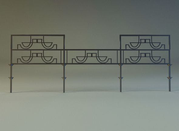 Forged railing 3 - 3DOcean Item for Sale