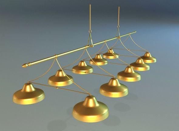 Lamps billiards - 3DOcean Item for Sale