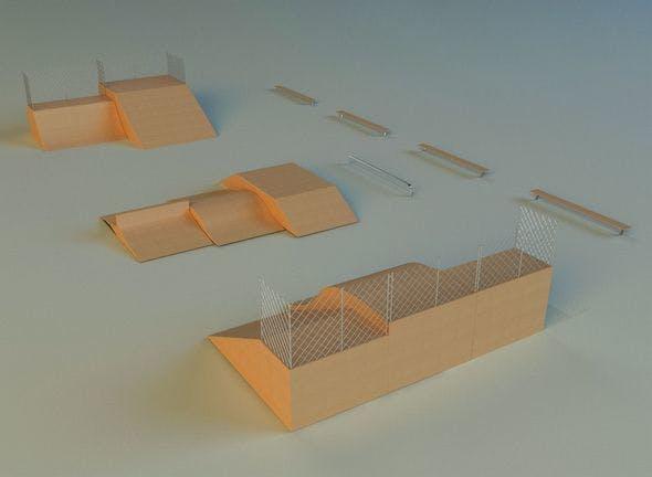 Skate square - 3DOcean Item for Sale