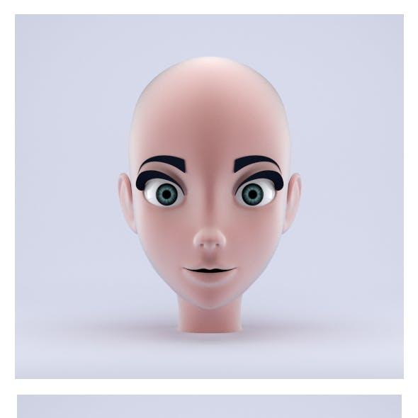 Stylized Female Head