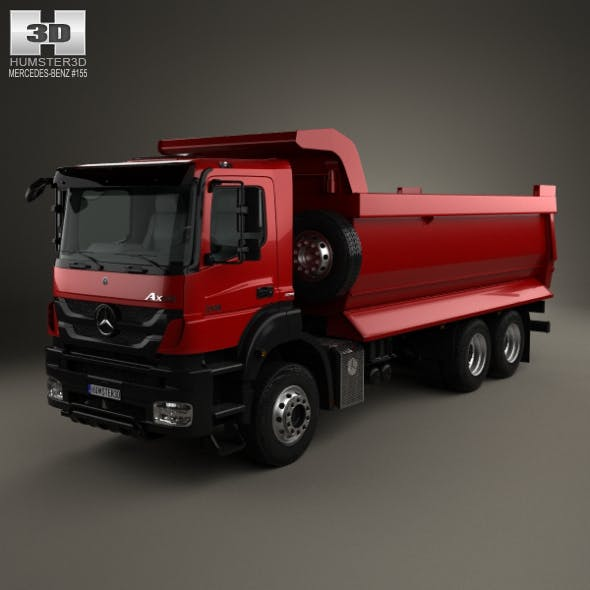 Mercedes-Benz Axor Tipper Truck 2005 - 3DOcean Item for Sale