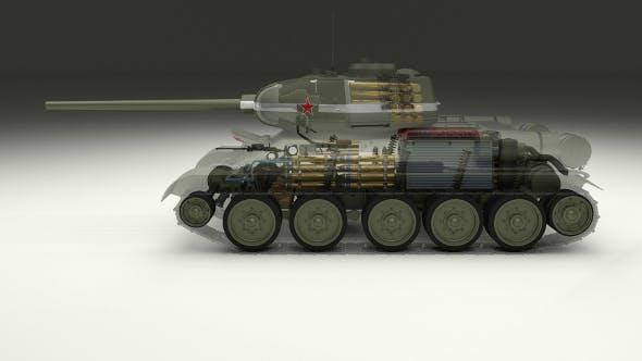 T-34/85 Interior/Engine Bay Full - 3DOcean Item for Sale