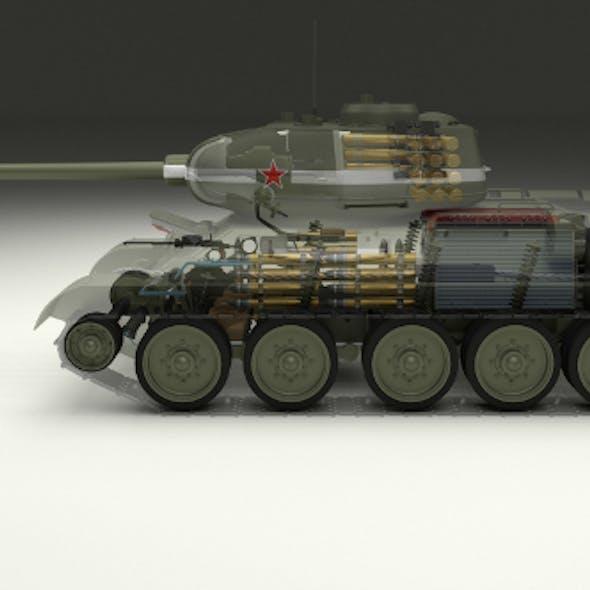 T-34/85 Interior/Engine Bay Full