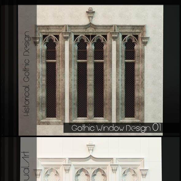 Gothic Style Window 01