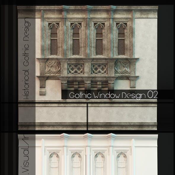 Gothic Style Window 02