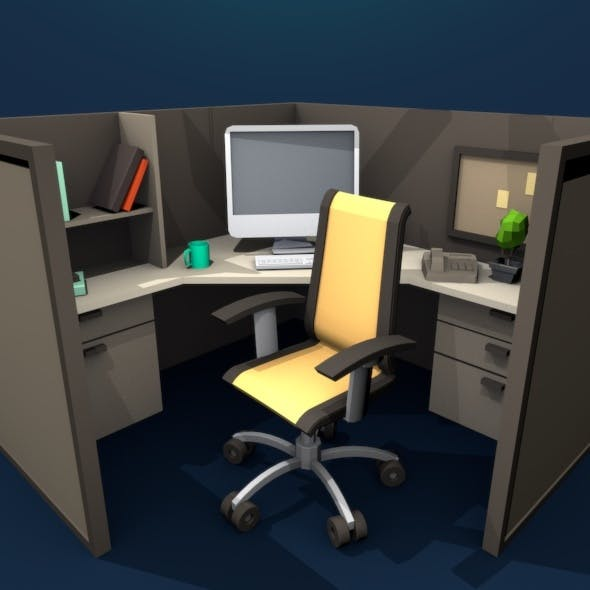 Workplace Low Poly