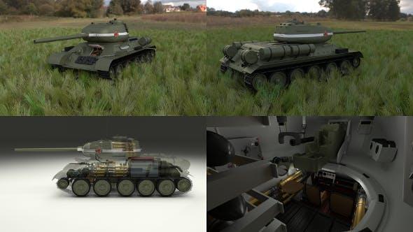 T-34/85 Interior/Engine Bay Full HDRI - 3DOcean Item for Sale