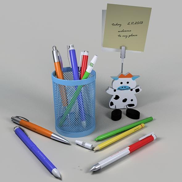 Pencil cup & Paper clipper