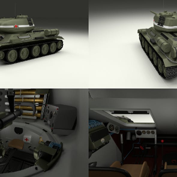 T-34/85 with Interior