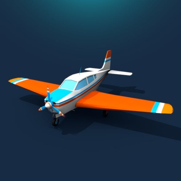 Plane Low Poly (rigged) - 3DOcean Item for Sale
