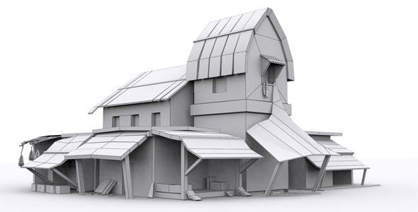 Village Market Model - 3DOcean Item for Sale