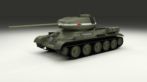 T-34/85 Tank - 3DOcean Item for Sale