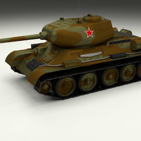 T-34/85 Tank Camo
