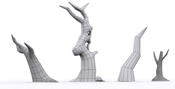 Tree Set Model - 3DOcean Item for Sale
