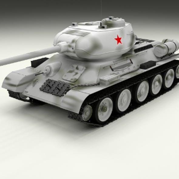 T-34/85 Tank Winter Camo