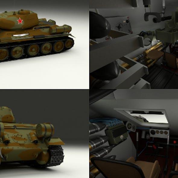 T-34-85 with Interior Camo