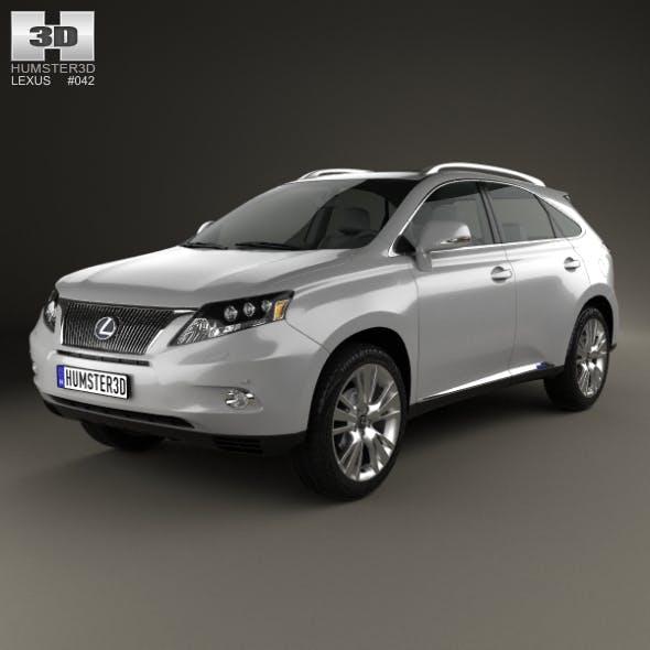 Lexus RX hybrid 2009 - 3DOcean Item for Sale