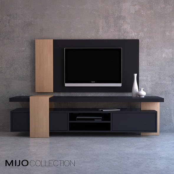 Chest + TV panel. Grupo mobilfresno - Mio collection - 3DOcean Item for Sale
