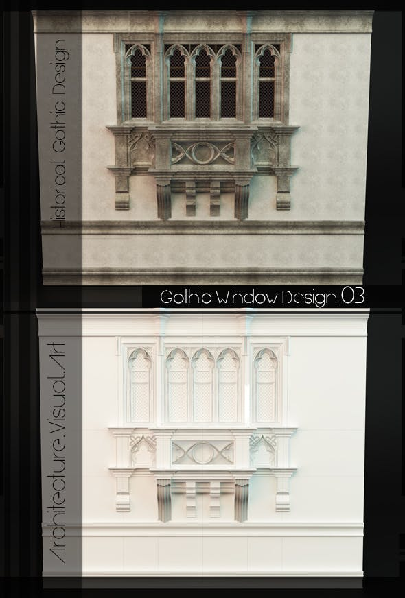 Gothic Style Window 04 - 3DOcean Item for Sale