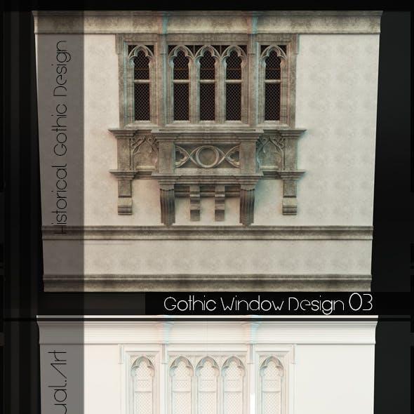 Gothic Style Window 04