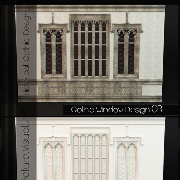 Gothic Style Window 03