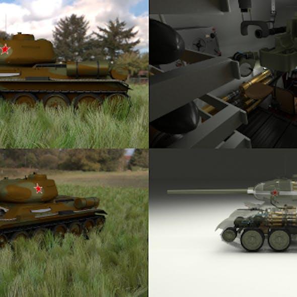 T-34/85 Interior/Engine Bay Full HDRI Camo