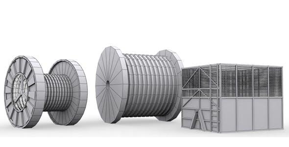 Industrial Props Mdeling 3 - 3DOcean Item for Sale