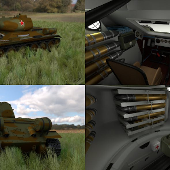 T-34-85 with Interior HDRI Camo