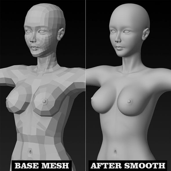 High Quality Female Base Mesh - 3DOcean Item for Sale