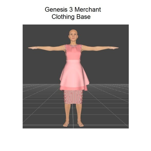 Genesis 3 female dress merchant resource - 3DOcean Item for Sale