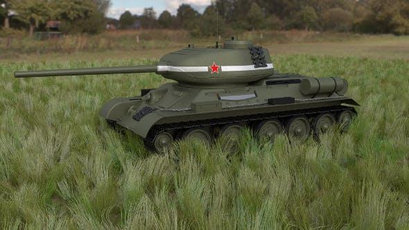 T-34/85 Tank HDRI - 3DOcean Item for Sale