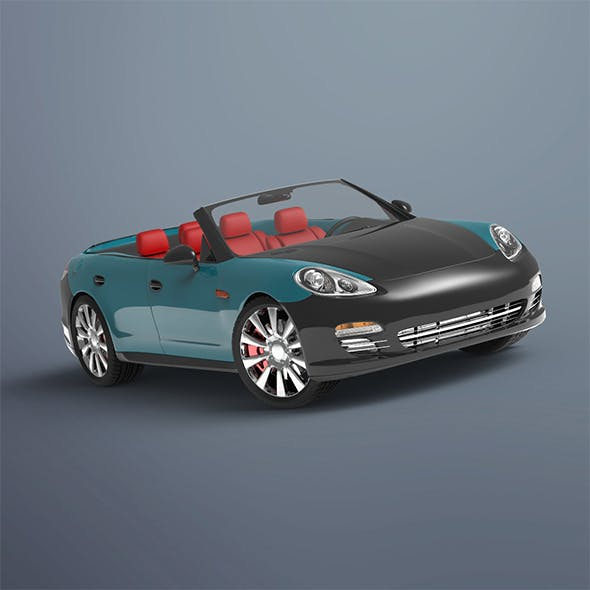Convertible Porsche - 3DOcean Item for Sale