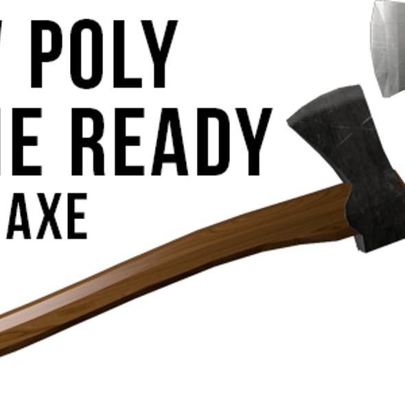 Game Ready Low Poly Axe