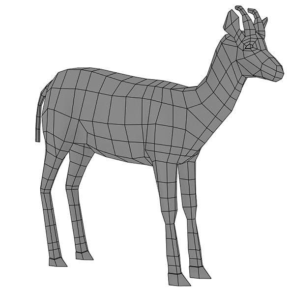 Deer Base Mesh - 3DOcean Item for Sale