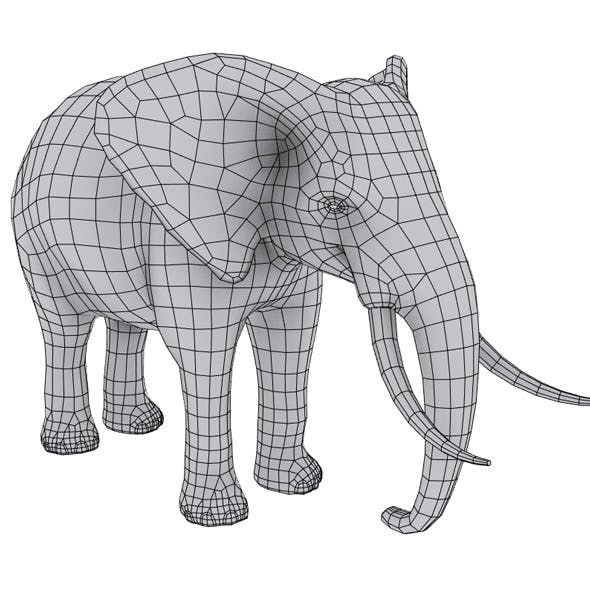 Elephant Base mesh / Low poly - 3DOcean Item for Sale