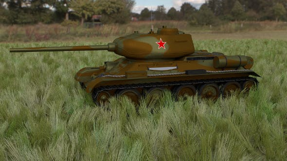 T-34/85 Tank HDRI camo - 3DOcean Item for Sale
