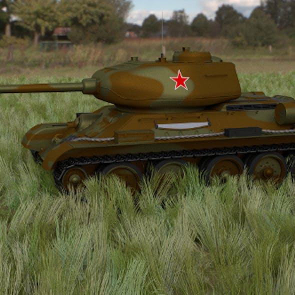 T-34/85 Tank HDRI camo