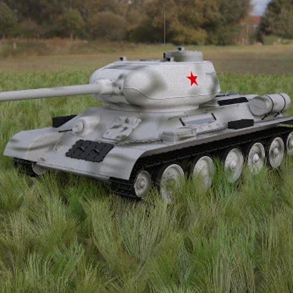 T-34/85 Tank HDRI winter camo