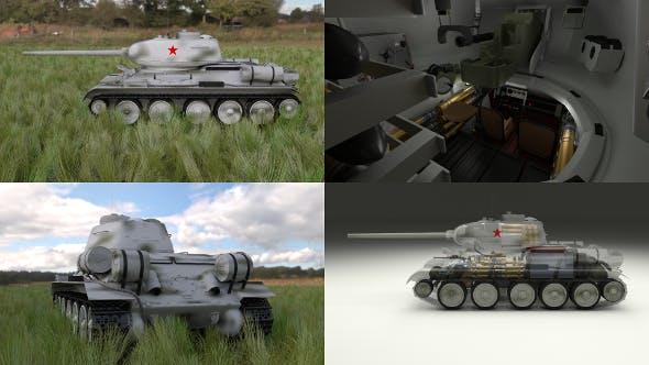 T-34/85 Interior/Engine Bay Full HDRI Winter Camo - 3DOcean Item for Sale