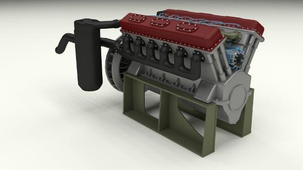 T-34 Tank Engine  - 3DOcean Item for Sale