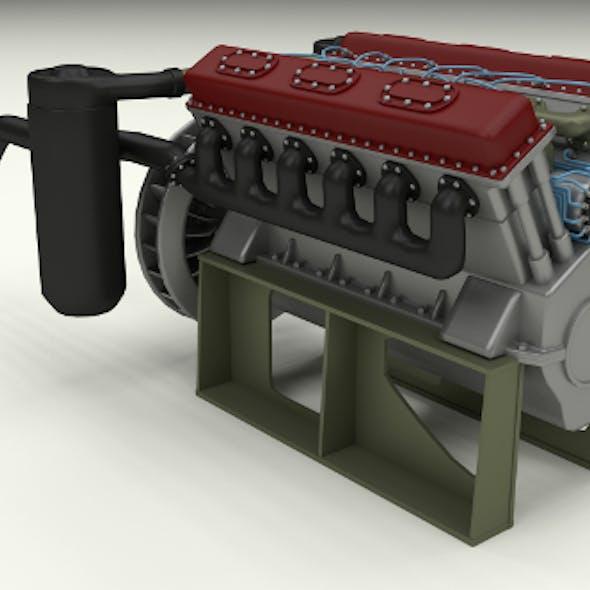 T-34 Tank Engine
