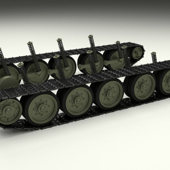 T-34 Tank Tracks and Suspension