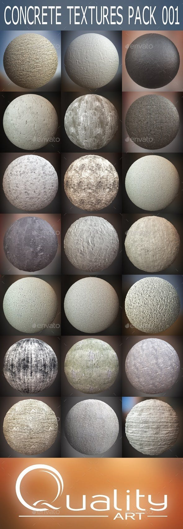 Concrete Textures Pack 001 - 3DOcean Item for Sale