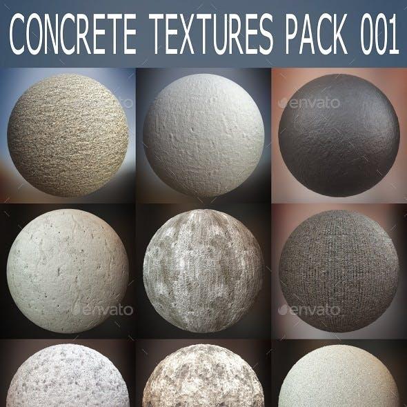 Concrete Textures Pack 001