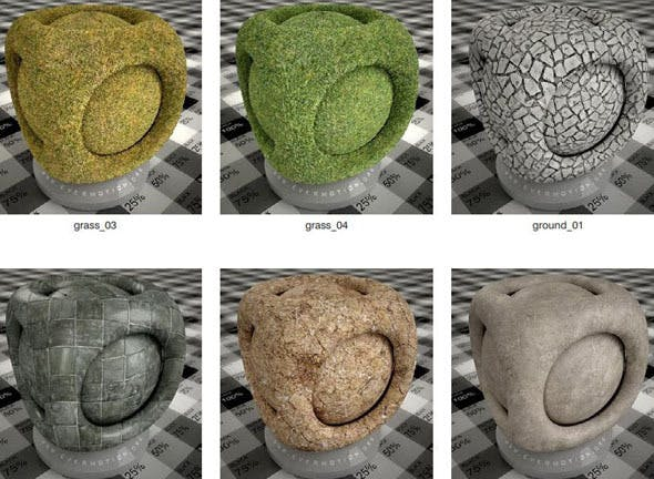 Ground Material 3ds max v-ray - 3DOcean Item for Sale