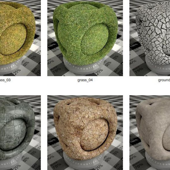 Ground Material 3ds max v-ray