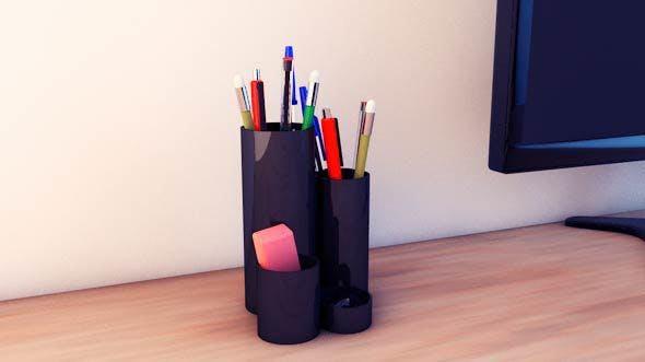 Desk accessories (pen, eraser, etc.) - 3DOcean Item for Sale