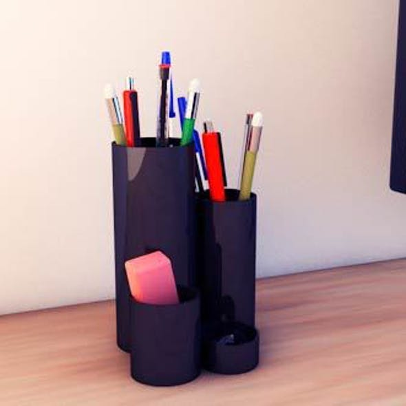 Desk accessories (pen, eraser, etc.)