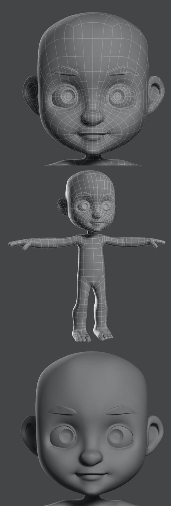 Cartoon Boy base mesh - 3DOcean Item for Sale