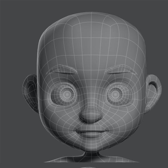 Cartoon Boy base mesh